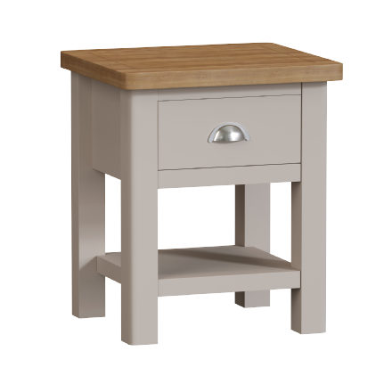 Richmond Painted Oak 1 Drawer Lamp Table